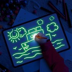 Fluorescent Early Education Writing Graffiti Board Creative Handwriting Board(BUY 1 GET OFF) - Kinder - Best Christmas Gifts, Xmas Gifts, Christmas Fun, Drawing Skills, Drawing Board, Magic Drawing, Board For Kids, Amazing Drawings, Veggie Gardens