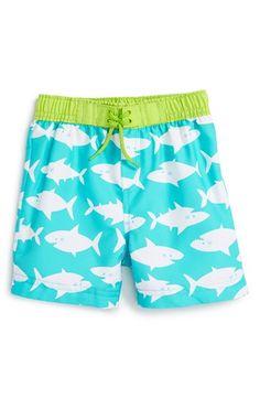 Little Me 'Shark' Print Swim Trunks (Baby Boys) available at #Nordstrom