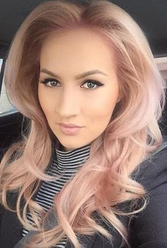 Gorgeous rose blonde hair