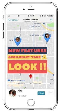 Now you no longer need to call each other dozens of times to arrange a meeting, you can simply view each other's locations via phone number. Find My Phone, Get Directions, Ipod Touch, Track, Number, App, Times, Runway, Truck