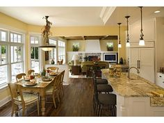 Open floor plan---I like everything about this!!!