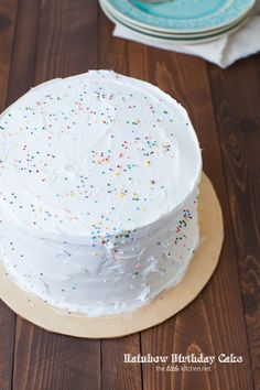 A step by step tutorial on how to make a beautiful rainbow birthday cake. This rainbow cake will impress your family and friends! Pig Birthday, Rainbow Birthday, Birthday Cake Girls, Princess Peach Party, Rainbow Layer Cakes, Hockey Party, 6 Cake, Rainbow Food, Girl Cakes