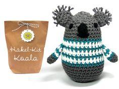 crochet cute Koala! Design and crochet kit by Lemonata