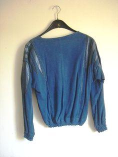 blaues Ledertop Denim Button Up, Button Up Shirts, Vintage Fashion, Tops, Leather, Blue, Gowns, Fashion Vintage, Preppy Fashion