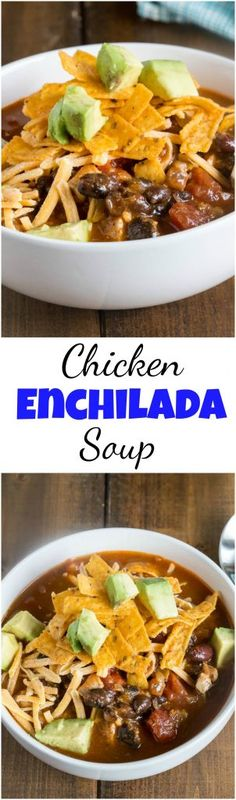 Chicken Enchilada Soup - Dinners, Dishes, and Desserts
