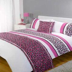 "Dreamscene Bettwäsche Set Leopard - ""Bed In A Bag"" Komplett-Set - Pink - Double/Doppel: Amazon.de: Küche & Haushalt"