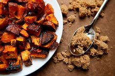 baked sweet potato fries. thanksgiving.  via thedailymuse. I mixed everything together and then cooked them and they were great