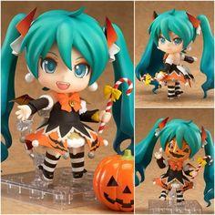 "J.G Chen Nendoroid Hatsune Miku Halloween Pumpkin Ver. #448 PVC Action Figure Model Collection Toy 4"" 10CM"