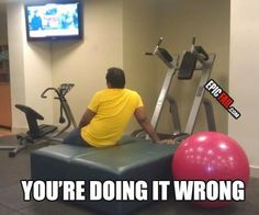like the tv in front of our treadmill......