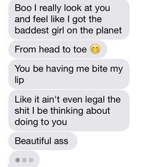 Ayeee, can I get a text like this? Haha