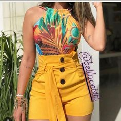 Buy Women Summer Fashion Sexy High Waisted Shorts Plus Size Button Slim Short Pants with Belt at Wish - Shopping Made Fun Belted Shorts, Hot Shorts, Hot Pants, High Waisted Shorts, Casual Shorts, Summer Shorts, Skinny Shorts, Loose Shorts, Women's Pants