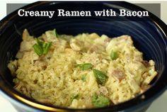 Creamy Ramen With Bacon