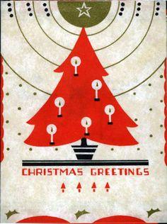 1930s Christmas card