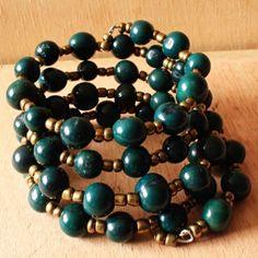 Green Acai Beaded Bracelet