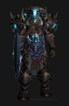 Unholy Death Knight Apocalypse Transmog Set - Herald of Pestilance Skin with Blue Tint Transmog. World of Warcraft Legion.