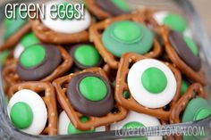 Green Eggs Pretzel Bites By Love From The Oven #drseuss
