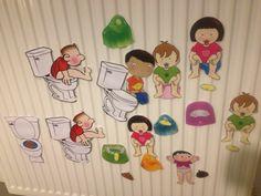 Magnets DIY preschool thema potty training Magneetjes thema zindelijkheid