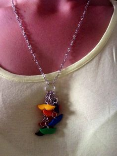 Rainbow Mustaches Necklace by TheHappyFactory118 on Etsy $13