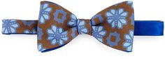 $175, Brown Print Bow-tie: Massimo Bizzocchi Flower Medallion Bow Tie Brown. Sold by Neiman Marcus. Click for more info: http://lookastic.com/men/shop_items/222279/redirect