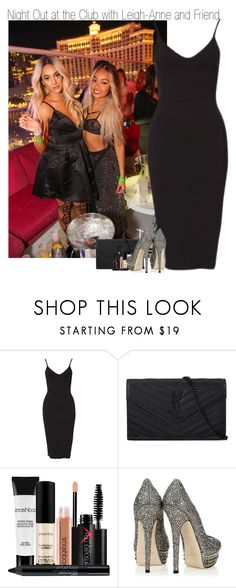 """Night Out at the Club with Leigh-Anne and Friend"" by elise-22 ❤ liked on Polyvore featuring Yves Saint Laurent, Smashbox and Jimmy Choo"