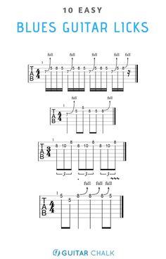 10 Easy Blues Guitar Licks for Beginners Blues Guitar Chords, Guitar Chords And Scales, Blues Guitar Lessons, Learn Guitar Chords, Guitar Chords Beginner, Online Guitar Lessons, Guitar Chords For Songs, Guitar Chord Chart, Guitar Sheet Music
