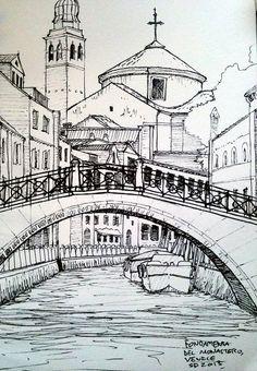 Ink Urban Sketch