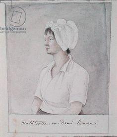 Mulatto Girl, 1807-22 (pencil and w/c on paper) Hyde de Neuville, Anne Marguerite (c.1749-1849)