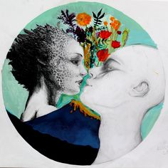"""Elaborato sui contrasti cromatici e tecniche miste. Alunna: Alice Iardella Liceo Artistico """"Stagio Stagi"""""""