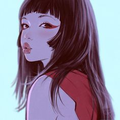 Love this digital painting by Ilya Kuvshinov