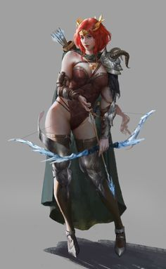 Archer Characters, Redhead Characters, Fantasy Characters, Female Characters, Fantasy Art Women, Beautiful Fantasy Art, Fantasy Images, Fantasy Girl, Female Character Concept