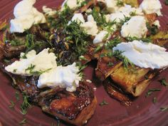 Ottolenghi's carmelized fennel with goat cheese.  Amazing.