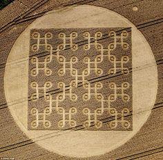 crop-circles símbolo tibetano nudo infinito