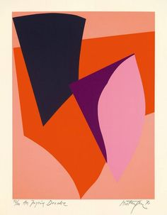 "Richard Mortensen ""ATTOUCHMENT I LÜBECK"", 1971-72 Silkscreen on cardboard."