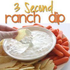 3 Second Ranch Dip on MyRecipeMagic.com #dip #recipe