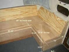 """dinette Here are the dimensions of the frame. Used 3/4"""" birch plywood, notched and interlocked perpendicularly"""
