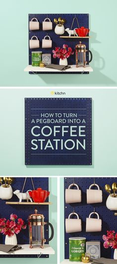Use a Pegboard as a Coffee Station — The Great Kitchen Pegboard
