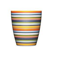 "Origo Tumbler Orange, $15, now featured on Fab.  Dishwasher safe porcelain, 3/5 "" H"