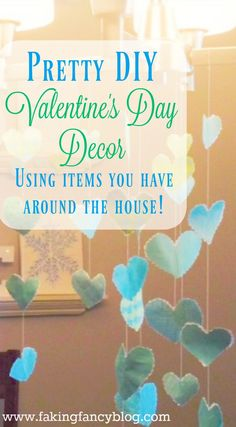 This fun and easy diy Valentine's day decor craft uses items you have around the house. Great last minute craft with the prettiest results!