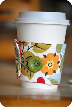 Coffee cozy tutorial...Cute!