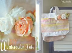 DIY Mother's Day : DIY Watercolor Canvas Tote Bag