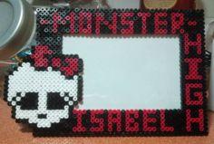 Custom Monster High photo frame (10X15) hama perler beads by Andres Moreno Rodriguez