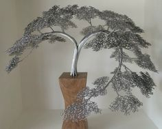 Beautiful Wire Tree Sculptures by Clive Maddison