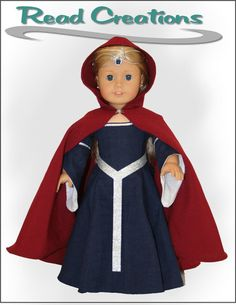 Read Creations Medieval Dress Doll Clothes Pattern 18 inch American Girl Dolls | Pixie Faire