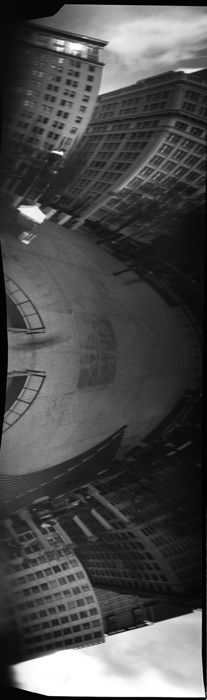Camera: Vermeer 6x17 Omniscope pinhole Film: Fuji Acros 100 About the only thing to make this camera even more fantastically mind-bending is to turn it on its side.