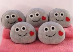 You Rock Valentine with a smiley face and heart cheeks.