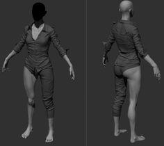 잡다한 : 네이버 블로그 Character Modeling, 3d Character, Character Design, Assassin, Maya Modeling, Concept Clothing, Animation Reference, Male Body, Zbrush