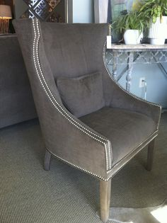 Genial I Love This Dark Gray Chair With The Double Nailhead Trim...love It