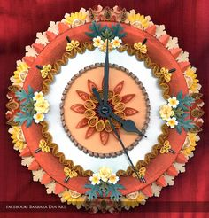 Quilled Wall Clock by dreamwarrior.deviantart.com on @deviantART