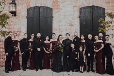 This gorgeous moody wedding is to die for! We love the black and burgundy color palette and are LIVING for the all black wedding gown. wedding black Moody LA Wedding Featuring an All Black Wedding Gown ⋆ Ruffled Black Wedding Themes, Black Wedding Gowns, Maroon Wedding, Fall Wedding Colors, Burgundy Wedding, Black Weddings, Wedding Ideas, Black Bridal Dresses, Wedding Stuff