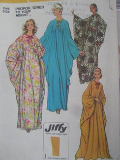 See Sally Sew-Patterns For Less - Caftan Leisure Wear Vintage Simplicity 5680 Pattern Sz. One size fits all, $11.00 (http://stores.seesallysew.com/caftan-leisure-wear-vintage-simplicity-5680-pattern-sz-one-size-fits-all/)